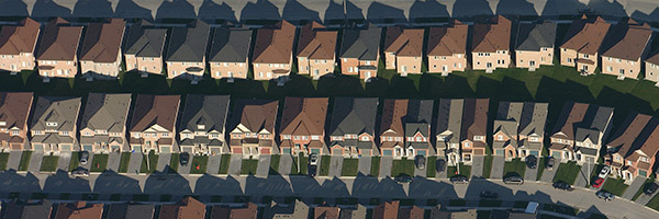 Aerial view of GTA homes