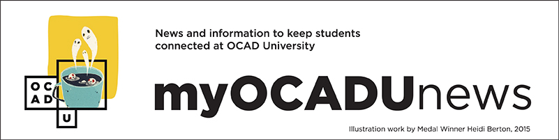 web banner showing graphic for my OCAD U news