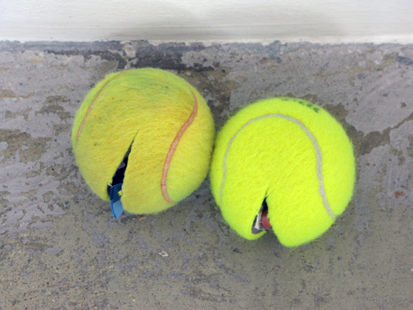 Claire-Fountaine Untitled Tennis-ball sculpture