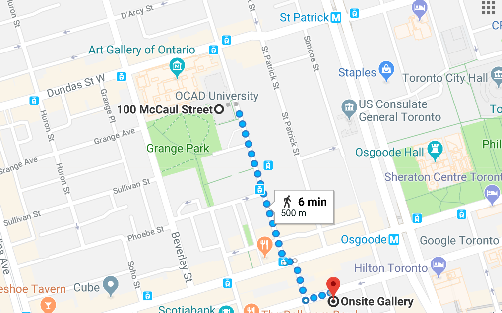 Directions from OCAD to Onsite