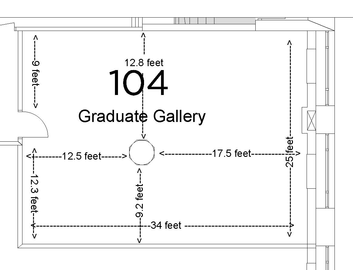Graduate Gallery Floorplan