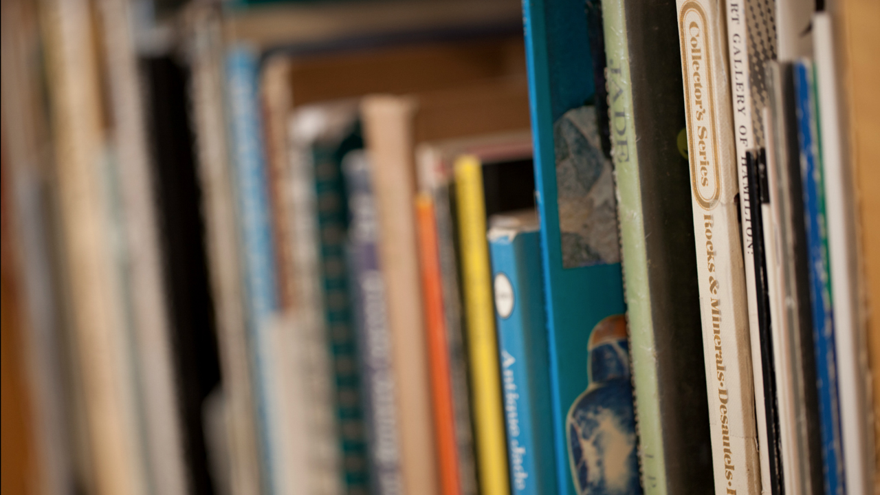 Image of books at the English Language Learning Support
