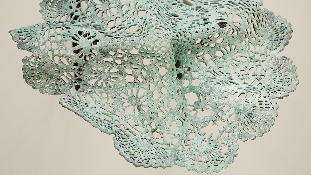 Doilies cast in bronze by Amy Liden, 2013.