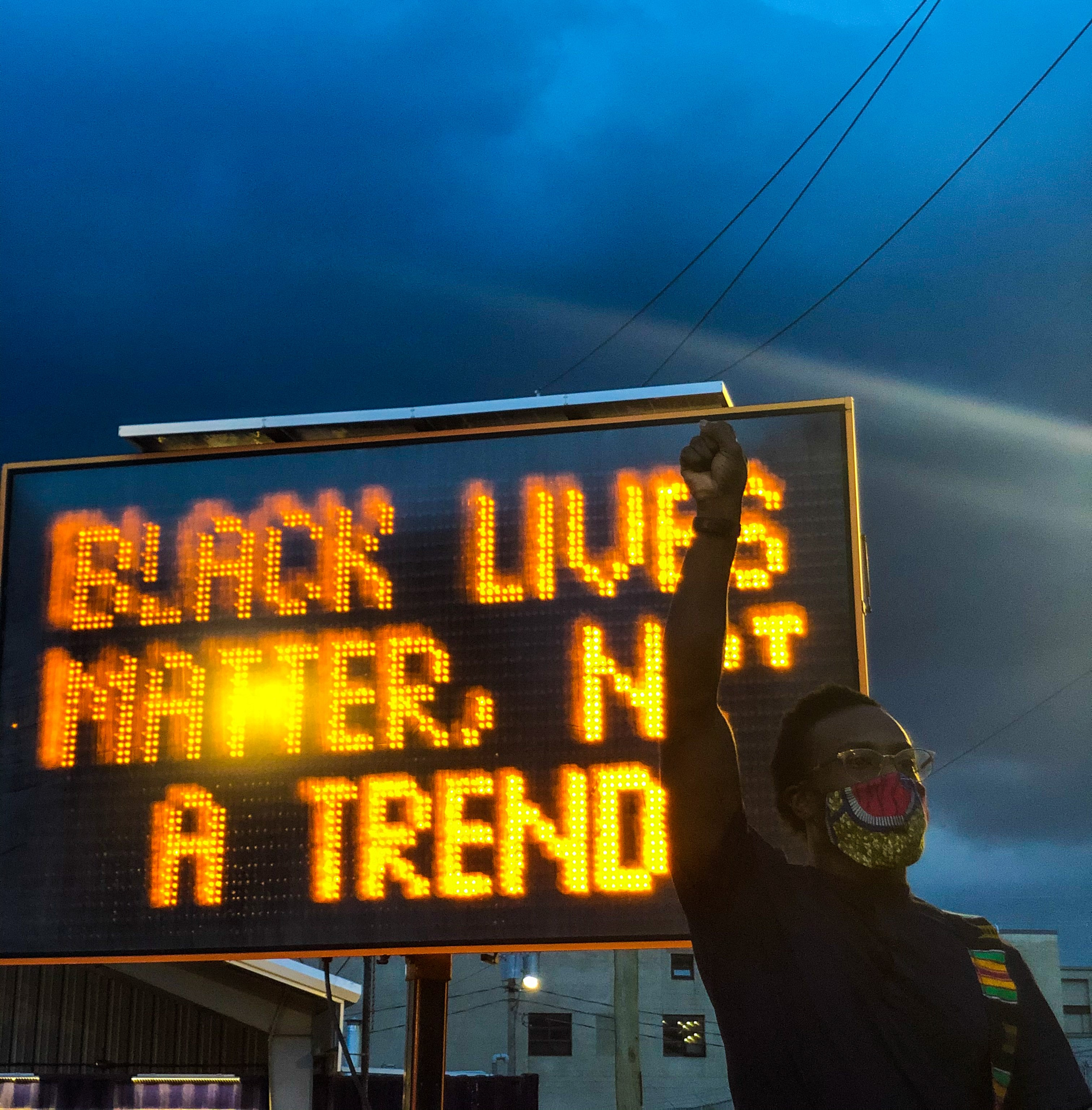 BLACK LIVES MATTER NOT A TREND